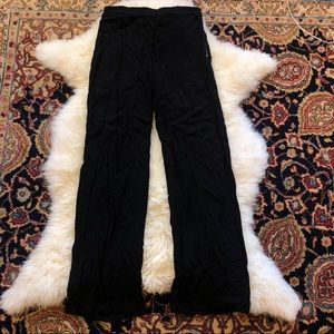 French Connection Black High Waisted Crepe Pants